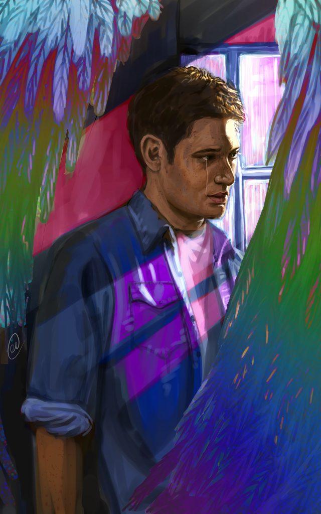 Fan Art of Dean Winchester by Xanthe Russell