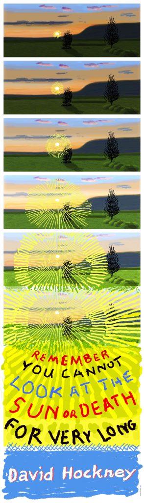 David Hockney Time Limited #CIRCAECONOMY Poster 2021 © David Hockney