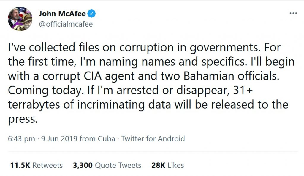 John McAfee Tweet (1)